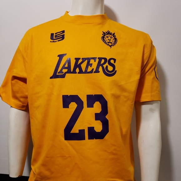 new styles 33959 ee043 Los Angeles Lakers Jersey T shirt #23 Lebron James